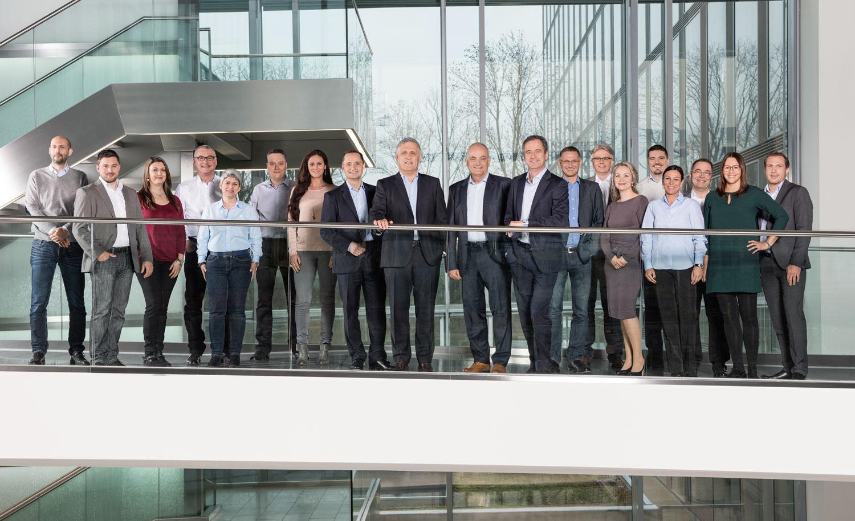 EnBW Vorstand mit Mitarbeitern